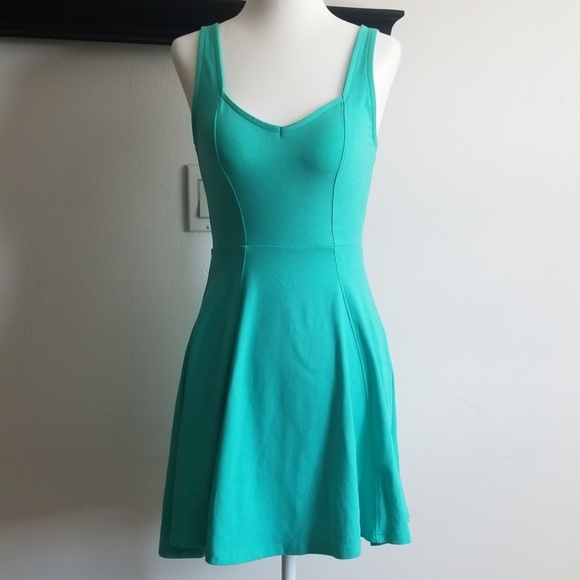 Express Dresses & Skirts - Express Aqua Green Summer Dress